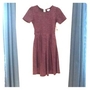 Brand new dark red Amelia dress (LuLaRoe)
